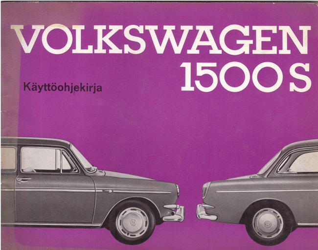 VW 1500 S 1964 käyttöohjekirja P.jpg